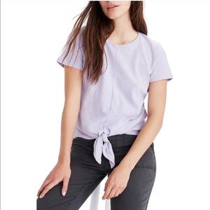 Madewell Texture & Thread Lavender Toe Front Tee